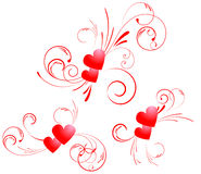 Valentine hearts swirl Royalty Free Stock Photos