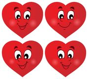 Valentine hearts thematic set 1 Royalty Free Stock Image