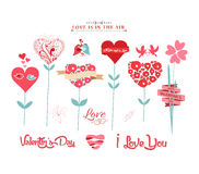 Valentine hearts tree Royalty Free Stock Photography