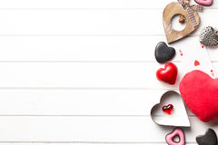 Valentine hearts of various types Stock Photo