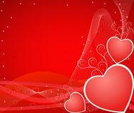 Valentine hearts  vector illustration Royalty Free Stock Photo