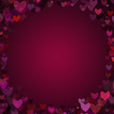 Valentine Hearts Vignette Frame Background Stock Photography