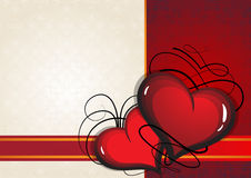 Valentine hearts on a Vintage background Royalty Free Stock Photography