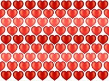 Valentine hearts wallpaper, background Royalty Free Stock Photos
