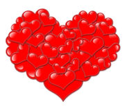 Valentine hearts on white Royalty Free Stock Images