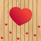 Valentine hearts. On wooden background Royalty Free Stock Photos