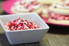 Valentine-het koekje bestrooit royalty-vrije stock afbeelding