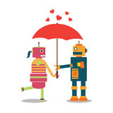 Valentine heureuse de robot Images stock