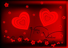 Valentine heureux Photographie stock