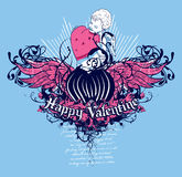 Valentine heureux Image stock
