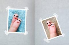 Valentine& heureux x27 de doigts ; fond de carte de jour de s Photos libres de droits