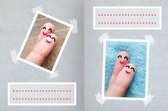 Valentine& heureux x27 de doigts ; fond de carte de jour de s Photo libre de droits