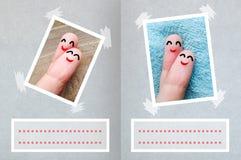 Valentine& heureux x27 de doigts ; fond de carte de jour de s Images libres de droits