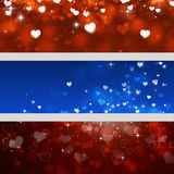 Valentine Holiday Banners Royalty Free Stock Image
