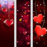 Valentine Holiday Banners Royalty Free Stock Photo