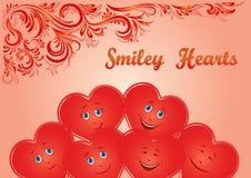 Valentine Holiday Hearts Faces Foto de archivo