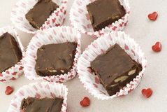 Valentine Homemade Fudge Royalty Free Stock Photos
