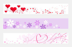 Valentine horizontal banner Royalty Free Stock Photos
