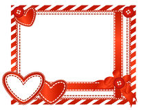 Valentine horizontal card Royalty Free Stock Image
