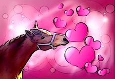 Valentine horse Royalty Free Stock Images