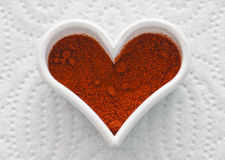 Valentine hot chili heart Royalty Free Stock Photos