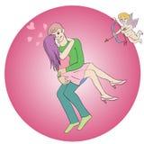 Valentine Hug Royaltyfri Foto