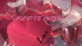 Valentine I houdt van u Hartachtergrond stock videobeelden