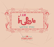 Valentine i am in love with you Royalty Free Stock Images