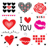 Valentine I Love You Sweetheart Cute Cartoon Vector Royalty Free Stock Photos