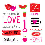 Valentine I Love You Sweetheart Cute Cartoon Vector Royalty Free Stock Image