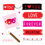 Valentine I Love You Sweetheart Cute Cartoon Vector. Valentine I Love You Sweetheart Cute Cartoon Design Vector Royalty Free Stock Photography
