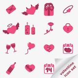 Valentine icon set. Vector illustration royalty free illustration