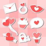 Valentine Icon Set Royalty Free Stock Photography