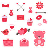 Valentine icon set Stock Photos