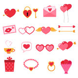 Valentine icon set Royalty Free Stock Photography