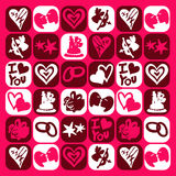 Valentine icons stock photography