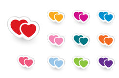 Valentine icons set #2 Royalty Free Stock Photos