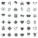 Valentine icons set Royalty Free Stock Images