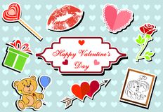 Valentine icons Stock Images