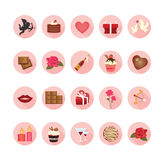 Valentine icons set. Stock Photos