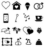 Valentine Icons Royalty Free Stock Photos