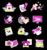 Valentine_icons_for_website Royalty Free Stock Photography
