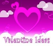 Valentine Ideas Indicates Valentines Day en Vriend royalty-vrije illustratie