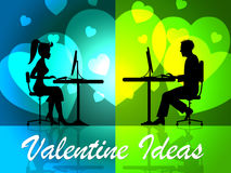 Valentine Ideas Shows Decision Girlfriend And Celebration Stock Image