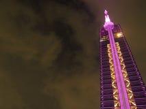 Valentine Illumination på det Fukuoka tornet royaltyfria foton