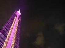 Valentine Illumination på det Fukuoka tornet arkivfoto