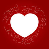 Valentine illustration card Royalty Free Stock Images