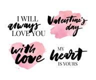 Valentine' impresión del lema de la moda del sistema del día de s Impresión del lema del Grunge Impresión del lema de Newyor ilustración del vector