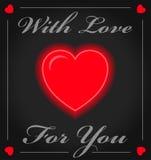 valentine Inneres der Liebe Auch im corel abgehobenen Betrag Stockbilder