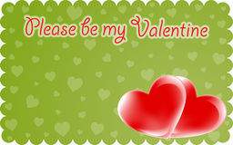 Valentine invitation Stock Image